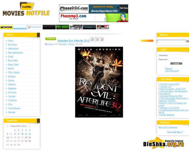 Шаблон: Perfect Movies Версия для Warez сайтов Версия DLE: 7x-8x Автор:х3.