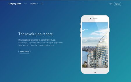 5 красивых Bootstrap Headers